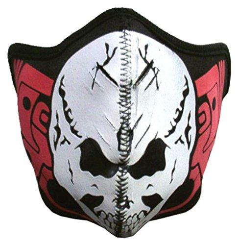 Biker Maske - White Skull