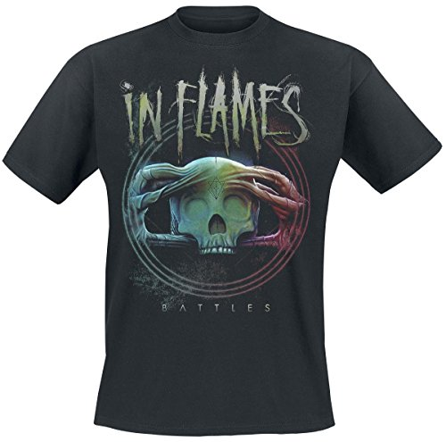 IN FLAMES -  T-shirt - Uomo Black Large