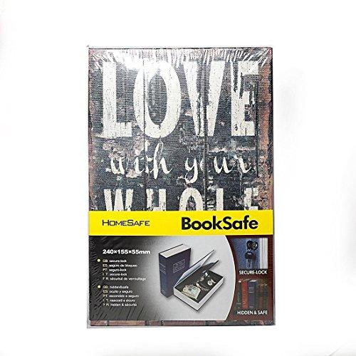 aideal Sicherheit Zeitvertreib Real Book Sicher, Passwort Geheim Versteckt Aufbewahrungsbox Sicher Box Stash Sicherheit Box für Cash Schmuck (Buch Safe-kombination)