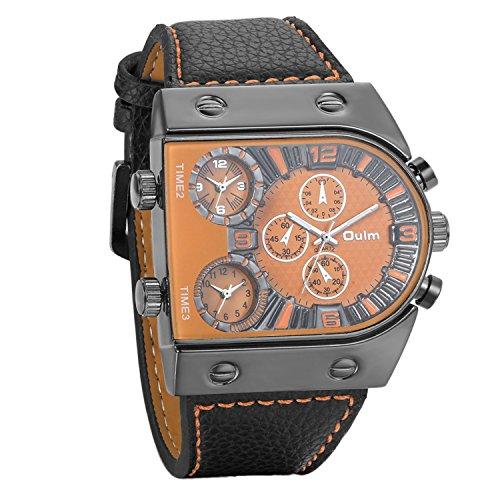 46ff378abb40 Avaner Grande Reloj Deportivo Militar para Hombre 3 Zonas de Horario  Diferente