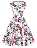 GRACE KARIN® Women's Vintage 50s Floral Print/Polka Dots Dresses 12Colors