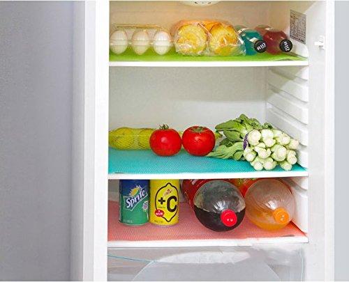 Musuntas 6pcs Kühlschränke Waschbare Kühlschrankmatten Küche Kühlraum Auflagen Platzieren Sie Matten-Antibakterielle Antifouling Mildew Feuchtigkeit (Kissen, Kühlschrank)