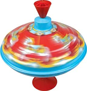 Traditional Tin Plate Spinning Top Fair Carousel Toy