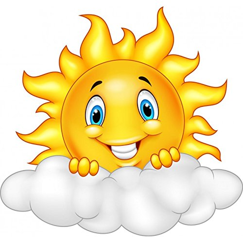 childrens-stickers-self-adhesive-stickers-child-sun-cloud-ref-15214-height-10-cm