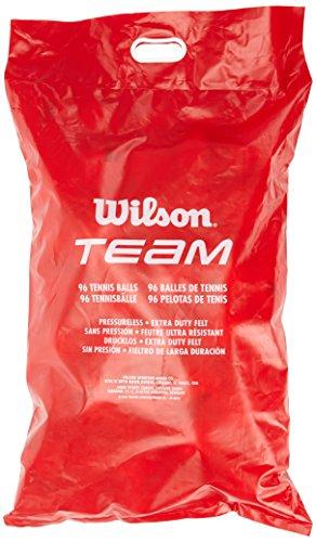 Wilson Tennisbälle Team Trainer, gelb, Beutel mit 96 Bällen, - Tennisbälle Drucklose