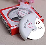 IGEMY Love A Slice Pizza Cutter Stainless Steel Tool Wedding Party Birthday Baby Shower Favor Gift Souvenirs For Guests (White)