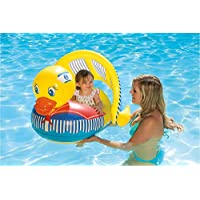 Poolmaster 81547 Learn-to-Swim Duck Baby Float Rider with Retractable/Removable Canopy
