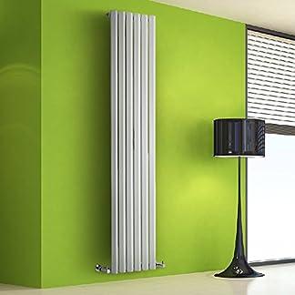 Hudson Reed Radiador de Diseño Vertical – Blanco – 1780mm x 420mm x 60mm – 1050 Vatios – Rombo