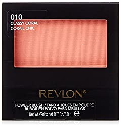 Revlon Powder Blush, 010 Classy Coral, 0.17 Ounce