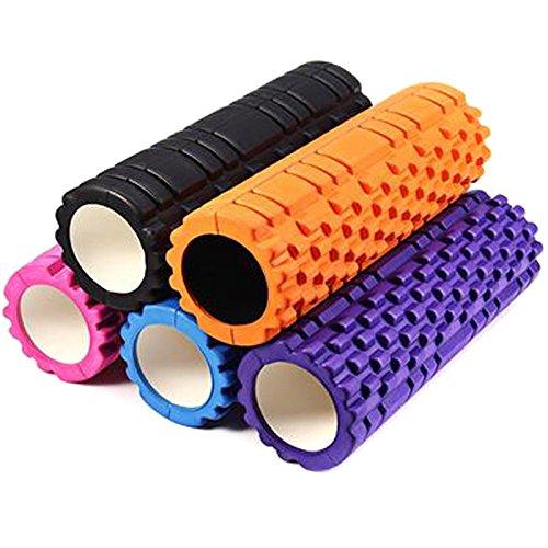 Semoss Fitness Roller Yoga Rolle Massagerolle Schaumstoffrollen Foam Roller 34 cm X 14 cm für fitnessstudio oder zu Hause,Blau