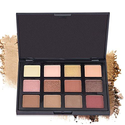 Palette de Fard à paupières, FantasyDay 12 Couleurs Professionnelle Shimmer Matte Ultra Pigmenté Bases de Ombre à paupières Maquillage Palette Cosmétique Set - Eyeshadow Makeup Beauty Kit #3