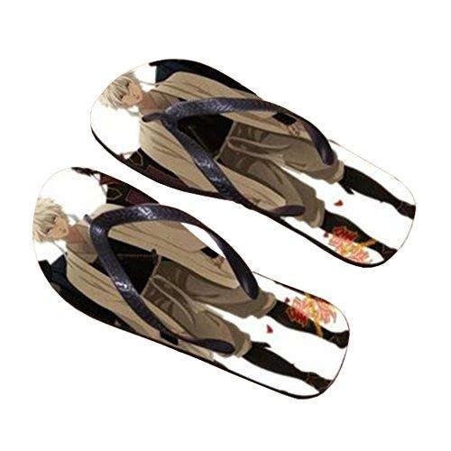 Bromeo Gintama Anime Aleta Unisex Flip Flops Flops Chinelos 503