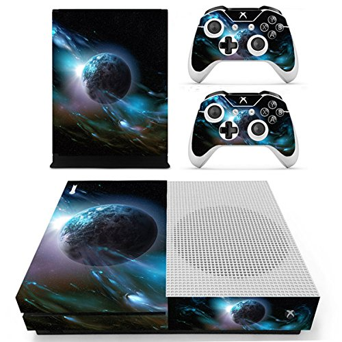 Morbuy Xbox One S Skin Vinly Pegatinas Protective Consola Sticker Decal + 2 Controlador Skins Set (Dark Earth)