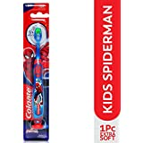 Colgate Kids Spider-man Toothbrush, Extra Soft with Tongue Cleaner - 1 Pc