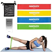 Fasce Elastiche di Resistenza / Bande Fitness con Guida Scaricabile agli Esercizi e Sacchetto, Set di 4 Elastici -- 4x cinghia, banda, fascia elastica per resistance training, yoga, pilates, fisioterapia, cinghie per allenamento crossfit