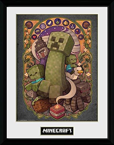 GB Eye Minecraft, Creeper Nouveau Gerahmter Druck, Mehrfarbig, 30x 40cm