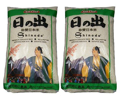 2er-Pack - Shinode Sushi Reis [2x 10 kg] Sushireis SUN CLAD Sushi Rice
