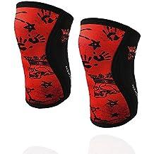 RODILLERAS RED SKULL Banbroken (2 unds) - 5mm Knee Sleeves - Halterofilia, deporte funcional, CrossFit, Levantamiento de Pesas, Running y otros deportes. UNISEX. (L)