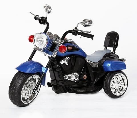 Harley Davidson-Stil Kinder 3-Rad-Chopper 6V Elektromotor Trike Blau