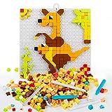 Rompecabezas Puzzles Infantiles Mosaicos Pinchos 420pcs Bloques Construccion con Clavijas Caja de DIY Conjunto Juguetes Educativos para Niños Niña de 3 4 5 Años