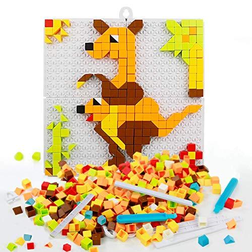 Mosaik Steckspiel Steckmosaik 420 stück Steckspiel Baukasten Mosaiksteine Bauklötze Steckerspiel Kinder Junge Mädchen 4 5 6 Jahre