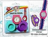 Rainbow Loom, Uhr mit 2 Wechselringen