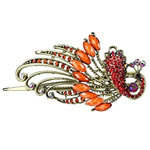 niceeshop(TM) Lovely Vintage Crystal Butterfly Hair Stick Beauty Tools,Orange