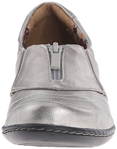 Hush Puppies Soft Style by Womens jennica Loafers Dark Pewter Leather