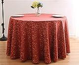 ZHUOBU Hotel Restaurant Tischdecke Tischdecke Runde Tischdecke Tischdecke Tischdecke Rund Tisch Couchtisch, groß 3meters-5
