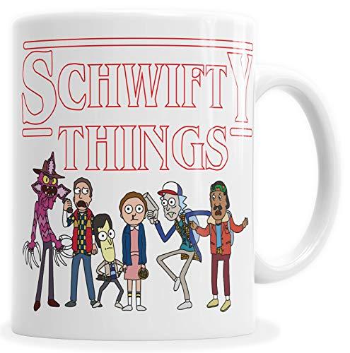 HYPSHRT Tasse Kaffeebecher Weiß Schwifty Things C000473
