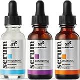 ArtNaturals Anti-Aging Set mit Vitamin C, Retinol, Hyaluronsäure - (3 x 1 Fl Oz / 30ml) - Serum für Tag- und Nacht Gesichtspflege - Anti-Falten Feuchtigkeitsspender