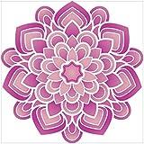 NISH! Rangoli Sticker #007 (Vinyl, Large - 24in X 24in, 25 Pieces)   Rangoli Stickers Floor   Rangoli Floor Stickers   Rangoli Stickers For Wall   Rangoli Stickers For Doors   Diwali Rangoli Stickers