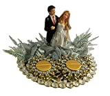 #6: Loops n knots Golden& Silver Crystal Wedding Ring Platter With 2 Ring Holders Platter Size 8
