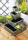 Fontaine Cascade Cache-pot avec 4 Niveaux - Argent