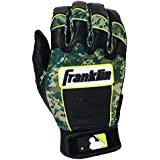 Franklin Sports Adult MLB CFX Pro Digi Series Batting Gloves, Pearl/Green, Medium