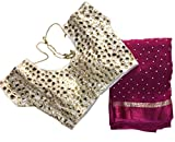 Shoppingover Indian Ethnic Magenta Saree...