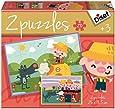 Diset - 69962 - Puzzle - Contes 3 Petits Cochons 2x20