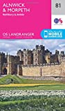 Landranger (81) Alnwick & Morpeth, Rothbury & Amble (OS Landranger Map)