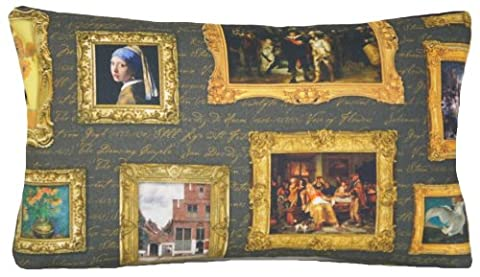 Sunflowers Cushion Cover Pattern Paintings Pillow Throw Case Girl With The Pearl Earring 20x!2 by Vintage style