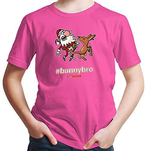 HARIZ  Jungen T-Shirt Pixbros Bunnybro Xmas Weihnachten Witzig Familie Liebe Plus Geschenkkarte Pink 164/14-15 Jahre