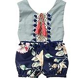 Vêtements pour bébés, Yogogo Été sans manches Impression florale Fille garçon bébé Vêtements de survêtement Maillots de bain pour les 0-4 ans (100/3T, Bleu)