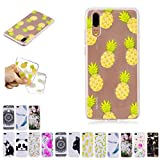 V-Ted Coque Apple iPhone XR Ananas Silicone Ultra Fine Mince Bumper Housse Etui Cover Transparente avec Motif Dessin Antichoc Incassable