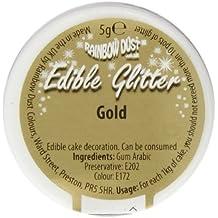 Polvere Glitter 100% Commestibile per Dolci - Oro