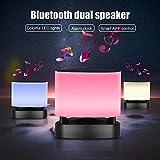 Sguan-wu Z1 Touch Dimmbare LED Bluetooth Lautsprecher Nachtlicht Lampe Wecker