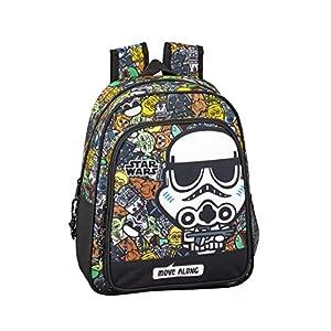 Star Wars Galaxy Oficial Mochila Escolar Infantil 270x100x330mm