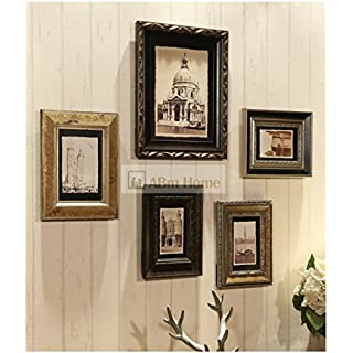 ABm Home Solid Wood Multi Picture Frame Set, Photo Frame, Wall Frame Set with 8 High Quality Frames, Large photo frame wall set, Covers 90cm x 103cm, Best Wall Decorations, Vintage Picture Frames, photo frame wall set, Best Wall Decorations, Vintage Picture Frames