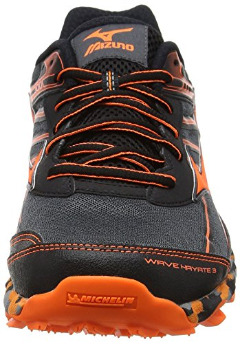 Mizuno Wave Hayate 3, Scarpe da Trail Running Uomo Nero (Dark Shadow/clownfish/black)