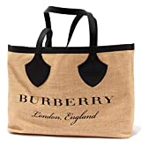 Burberry 3045AA borsa donna GIANT PRINTED RAFIA shopping bag woman [ONE SIZE]