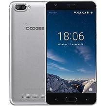 Moviles Libre, DOOGEE X20 Moviles Libres Baratos, 3G Android 7.0 Smartphone - MT6580 mali-400 - 5.0 Pulgadas HD IPS Pantalla - 2GB RAM +16GB ROM - 8MP Cámara - Dual SIM - Batería de 2580mAh (Plata)