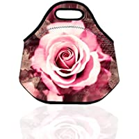 Blooming Roses stoffa lunch bag Travel zipper picnic Carry Storage Bag regalo per fidanzata